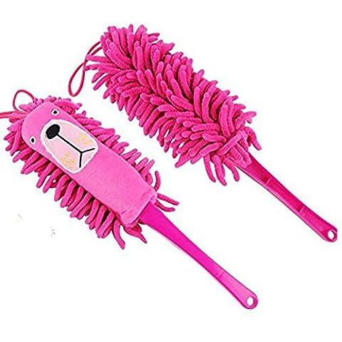 fittoway Chenille antistatisch saugfähig Mikrofaser weich Cartoon Tiere Duster Reinigung Bürsten (zufällige Farbe)