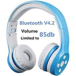 Hisonic Auriculares infantiles INALÁMBRICOS (Bluetooth) y plegables - Varios colores
