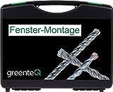 greenteQ Fenster-Montagekoffer Bohrer Bits Magnethalter 34-teilig Fenstermontage Koffer Bohrerset