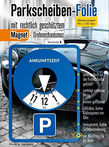 Parkscheibe Aufkleber Folie Sticker Etikett selbstklebend. Variante B. (Auto-aufkleber Abnehmbare)