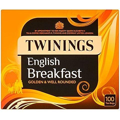 Twinings Colazione Inglese Bustine Di Tè 100 Per Confezione (Confezione da 6) - Twinings Colazione Tè