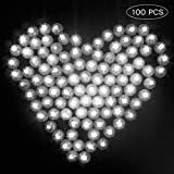 Danolt 100 PCS Palloncini luci Mini Lampade a LED per Matrimonio Lanterne di Carta Bambini Feste di Compleanno Decorazione di Natale di Halloween