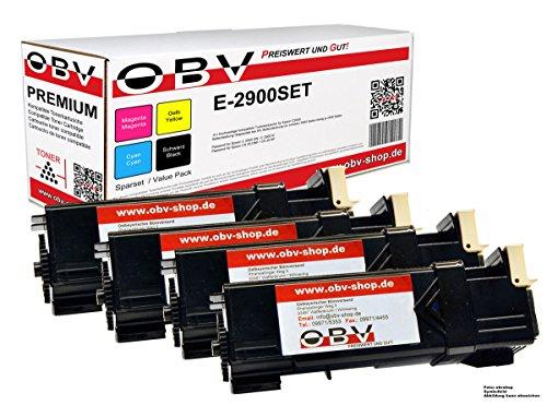 Preisvergleich Produktbild 4 x kompatibler Toner für Epson Aculaser C2900 / C2900DN / C2900N / CX29DNF / CX29NF / je 1x schwarz, cyan, magenta, gelb