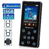 MP3 Player, 16GB MP3 Player mit Bluetooth 4.2 HiFi verlustfreiem Klang Digitaler...