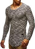 LEIF NELSON Herren Pullover Longsleeve Hoodie Basic Sweatshirt Hoodie Hoody Sweater LN6358; Größe XL, Schwarz