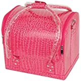 Hatop Professional Makeup Beauty Case Fashion Portable Cosmetic Case (Hot Pink)