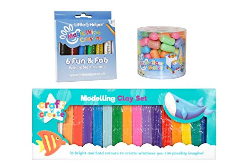 Little Helper CP-CRAFTBUN-ES Magic Wipe Crayons con Marvelous Maize y Set de...