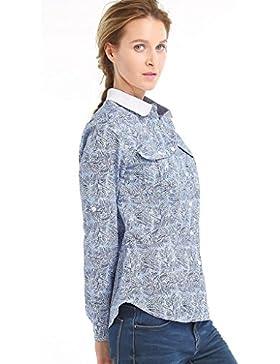 IKRR Camisas Manga Larga Estampado para Mujeres
