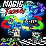 Anvera Car Magic Tracks Bend Flex Night Glow Running Car Toy for Kids