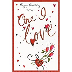 Red Berry Hill Carte d'anniversaire Motif One I Love