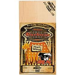 Axtschlag Räucherbretter BBQPit special Edition zur einmaligen Anwendung, Ahorn – Maple, 4 Grillbretter Holz, 300 x 150 x 2 mm