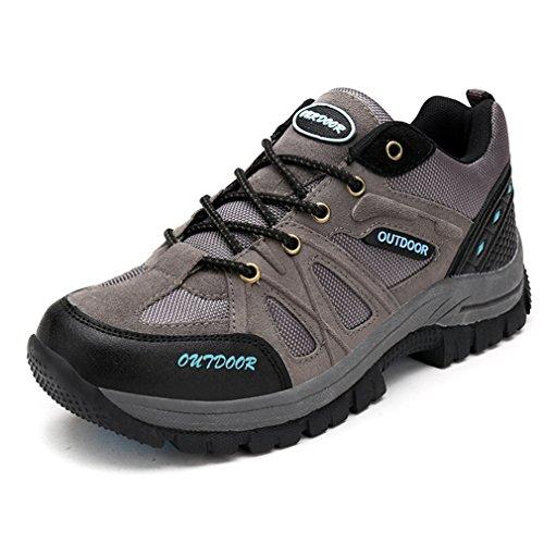 XI-GUA Scarpe da camminata ed escursionismo uomo Grau