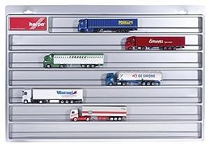 Herpa 029711-Camiones Vitrina Euro Longitud, vehículos, Plata