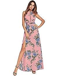ea13bb40b Huoduoduo Mujer Vestidos Un Vestido De La Mujer con Una Falda Larga Y La  Nuca De