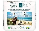 Eco by Naty, pants, talla 6, 18 pañales, +16kg, suministro para UN MES, Pañales pants ecológicos premium hechos a base de fibras vegetales. Sin sustancias nocivas.