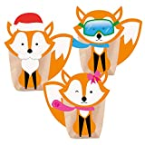Pajoma Adventskalender zum Befüllen DIY, 24 Beutel Kraftpapier Tüten 14x22cm (Foxy)