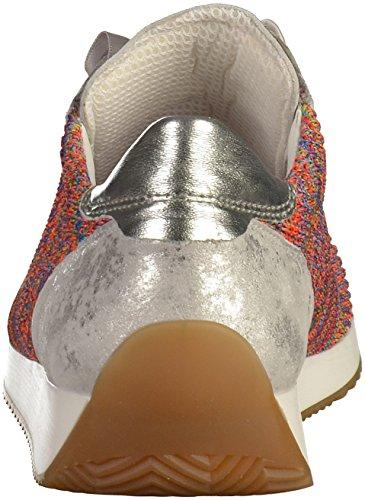 ara Damen 34 Sneaker Weiß (Reggae-Multi, Silber)