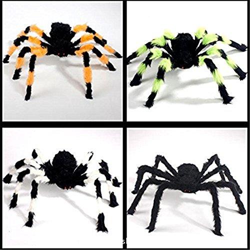 ed House Prop breit Spider Plüsch Spielzeug für Halloween Party Scary Dekoration zufällige Farbe 1Stück (30cm, bunt,) (Scary Halloween Haus Dekoration)