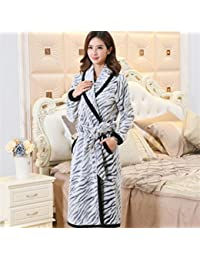 0b0a2c6000 pengweiThicker autumn and winter sections of coral fleece bathrobe flannel  men and women gown