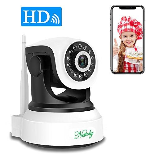Überwachungskamera Sicherheitskamera IP Kamera mit WiFi HD Wireless WLAN Kamera Kamera-Sicherheitssystem 720P P2P IR Nachtsicht drahtlose IP Camera für Security Home Baby Monitor 1 + 3M Netzkabel (Wireless-kameras Für Iphone)