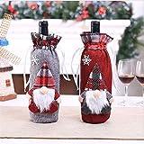 Wuwenw Decoraciones Navideñas Bosque Caliente Hombre Estatuilla Vino Set Champán Botella Set Vino Set Restaurante Distribución 2 Sets