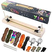Paracord Armband Maker mit 6Parachute Bindekordeln und 6Quick Release Schnallen und 2Edelstahl 550Paracord FID–toohxl Paracord Geflecht Weben DIY Craft Tool kit-heavy Duty Schnallen