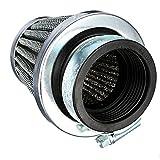 HOUTBY™ 50mm KFZ Auto Silber Motorrad Air Pod Intake Luftfilter Clamp Gummi Sportluftfilter