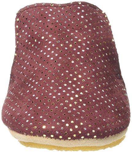 Easy Peasy Unisex Baby Blublu Krabbelschuhe Rouge (3Paillettes Bordeaux)