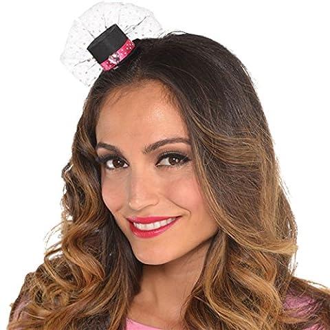 Zauberclown - Mini Hut, Haarspange A Day in Paris Look, Schwarz (Frankreich Kostüm Für Jungen)