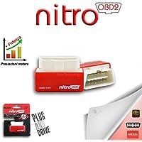 Nitro - Módulo complementario universal OBD2, para la unidad de control de coche diésel, chip de potencia OBDII
