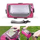 leegoal Fahrradrahmen Tasche, Waterproof Sensitive Touch Screen Phone Bicycle Bicycle Bag für-5.7