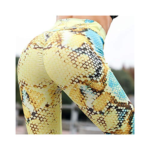aoliaoyudonggha Women High Waist Fitness Leggings Snake Print Leggings Ladies Exercise Pants -
