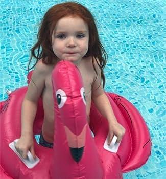 Baby Schwimmsitz Rosafarbener Flamingo Aufblasbar Kinder Schwimmring Einhorn Cartoon Aufblasbares Schwimmreifen Badespielzeug (Baby Schwimmring, Baby Flamingo) 3