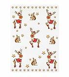 Reduziert: Kracht Geschirrtücher aus Halbleinen, Weihnachtsballett, 2er Pack, 45x70 cm