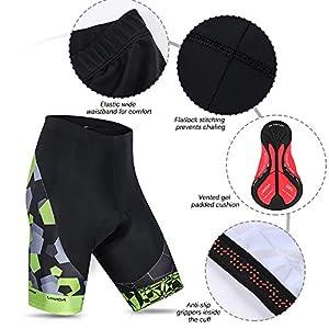 Lixada Cycling Jersey Man Summer Breathable Quick Dry Short Sleeve Shirt and Padded Gel Shorts