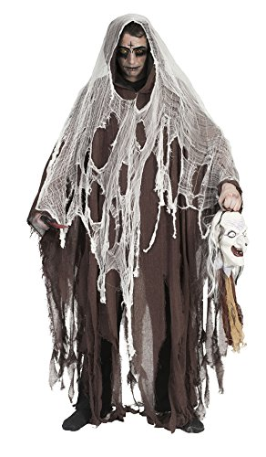 erdbeer-clown - Herren Halloween Karnevals-Kostüm Set Nightmare Horror Zombie Geist, One Size, Braun (Clown Puppe Kostüme)