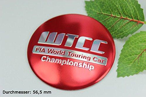 R171 WTCC 2 stück rot Felgendeckel 3D Emblem Abziehbild gebraucht kaufen  Wird an jeden Ort in Deutschland