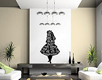 Merveilleux Alice In Wonderland Wall Art Decal (500mmx700mm)