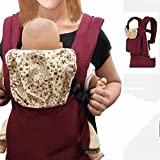 Upgrow Baby Carrier Slings Safety Baby Front Back Carrier Infant Backpack Wrap Harness with Hood for Newborn Infants Toddlers (Red) - Upgrow - amazon.co.uk