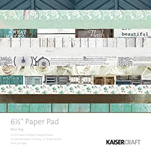 Kaisercraft Papier Pad 16,5cm x 16,5cm 40kg-blue Baie