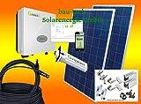 1000Watt Photovoltaikanlage für Eigenverbrauch Plug & Play Komplettset mit Montagematerial für Pfannendach von bau-tech Solarenergie GmbH