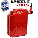NEW 20 LITRE RED JERRY MILITARY CAN FUEL OIL WATER PETROL DIESEL STORAGE TANK WITH SPOUT