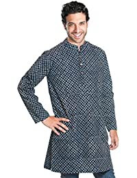 "Kurta Hemd""Maharadscha"" aus Indien, knielang, traditionell handbedruckt, unisex, 100% Baumwolle - diverse Größen & Designs"