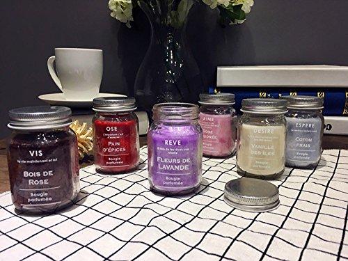 Kerzen Duftkerzen Duft Kerzen Lavendel Duft Kerze natürliche Bean Wachs Anlage ätherisches Öl 6 Pack, (Schwarz Kandelaber Halloween)