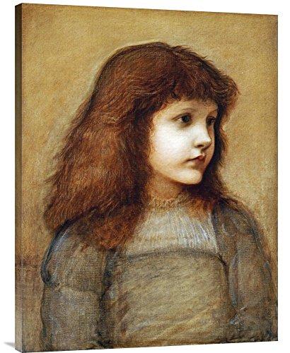 Global Gallery GCS-264639-36-142 Budget Sir Edward Burne-Jones Portrait of Gertie Lewis Gallery Wrap Giclée, Leinwandbild -