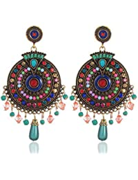 YouBella MultiColour gold plated Earrings for women