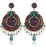#10: YouBella Fashion Jewellery Bohemian Stylish Multi-Color Fancy Party Wear Earrings for Girls and Women
