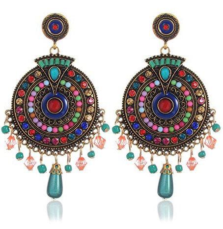 YouBella Fashion Jewellery Bohemian Stylish Multi-Color Fancy Party Wear Earrings for Girls...
