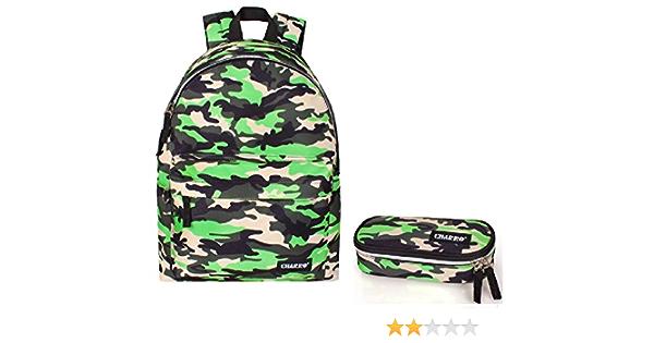 Zaino scuola viaggio uomo fantasia verde militare superiori fantasia camouflage