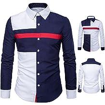 righe bianche it camicia azzurra Amazon x4nXSUq